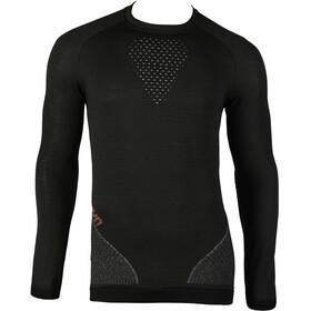UYN Fusyon UW LS Shirt Men Caviar/Beige/Bordeaux